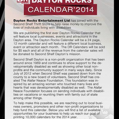 Dayton Rocks Calendar