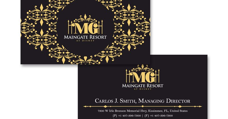 Maingate Resort & Spa Business Cards