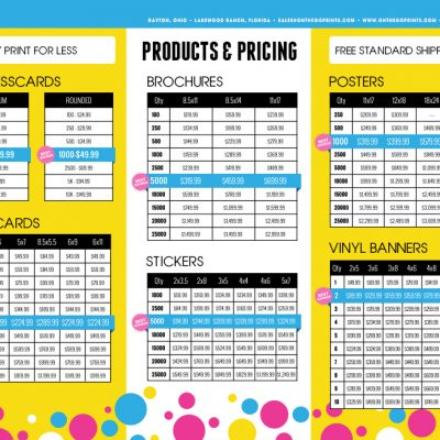 On The Go Prints Brochures
