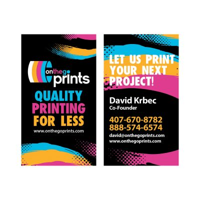 On The Go Prints Business Cards