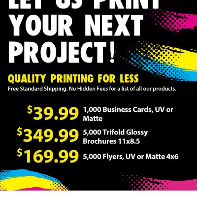 On The Go Prints Flyer