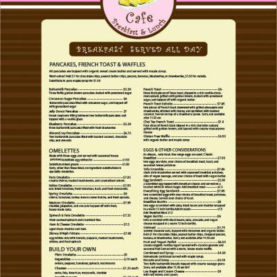 Butter Cafe Menu Design