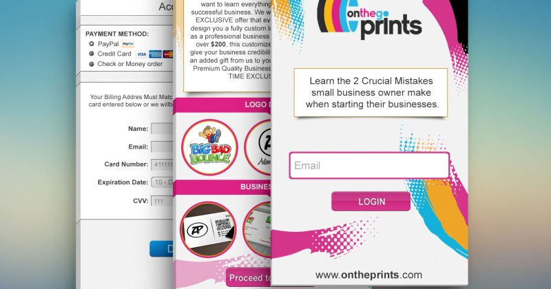On The Go Prints Mobile Site