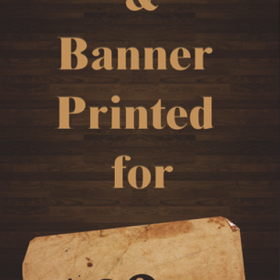 On The Go Prints Indoor Banner